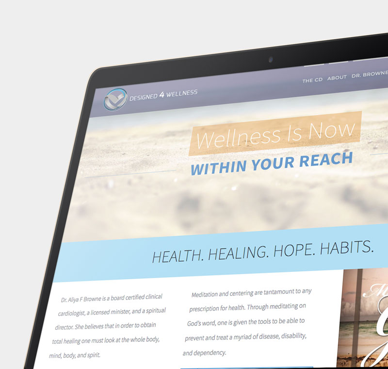 Designed 4 Wellness - Home Page